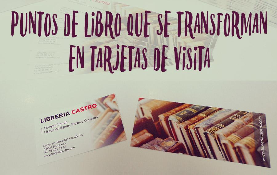 Puntos de libro y tarjetas de visita en uno.